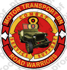 STICKER USMC UNIT   8TH Motor Transport Battalion A ooo Lisc#20187