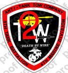 STICKER USMC UNIT   8TH TANK BATTALION TOW COMPANY ooo Lisc#20187