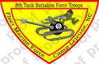 STICKER USMC UNIT   8th Tanks Force Troops ooo Lisc#20187