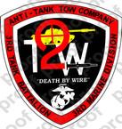 STICKER USMC UNIT   3RD TANK BATTALION TOW COMPANY ooo Lisc#20187