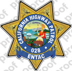 STICKER CIVIL California Highway Patrol ENTAC