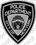 STICKER CIVIL New York City Police Department BW