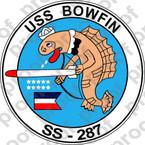 STICKER USN SS 287 USS BOWFIN