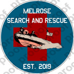 STICKER CIVIL MELROSE FIRE DEPT WATER RESCUE B