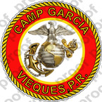STICKER USMC CAMP GARCIA ooo USMC Lisc No 20187