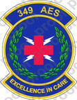 STICKER USAF 349TH AES