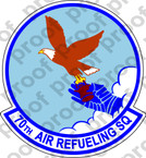 STICKER USAF 70th Air Refueling Squadron A
