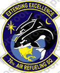 STICKER USAF 70TH AIR REFUELING SQUADRON B