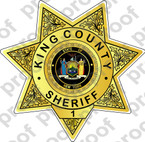 Sticker CIVIL King County NY Sheriff Department