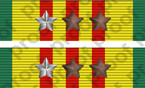 STICKER MILITARY RIBBON VIETNAM 7 STARS