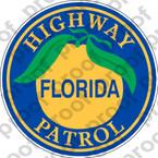 STICKER CIVIL FLORIDA HIGHWAY PATROL A