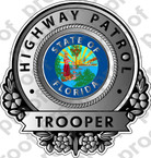 STICKER CIVIL FLORIDA HIGHWAY PATROL B