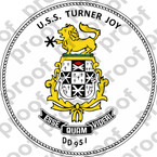STICKER USN DD 951 USS TURNER JOY