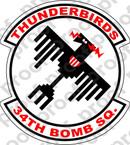 STICKER USAF 34TH BOMB SQUADRON A