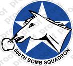 STICKER USAF 500TH BOMB SQUADRON V2