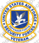 STICKER USAF Air Force Security Forces Veteran
