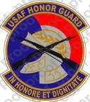 STICKER VET USAF HONOR GUARD C