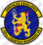 STICKER USAF 100TH LOGISTICS READY SQ