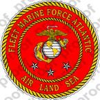 STICKER USMC FLEET MARINE FORCE ATLANTIC   ooo   USMC Lisc No 20187