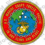 STICKER U.S. Marine Forces Pacific (MARFORPAC) Emblem