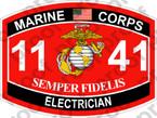 STICKER USMC MOS 1141 ELECTRICIAN ooo USMC Lisc No 20187