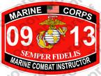 STICKER USMC MOS 0913 MARINE COMBAT INSTRUCTOR ooo USMC Lisc No 20187