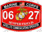 STICKER USMC MOS 0627 SATELLITE COMMUNICATIONS OPERATOR ooo USMC Lisc No 20187