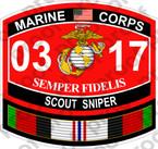 STICKER USMC MOS 0317 SCOUT SNIPER Afghanistan ooo USMC Lisc No 20187