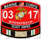 STICKER USMC MOS 0317 SCOUT SNIPER IRAQ ooo USMC Lisc No 20187