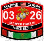 STICKER USMC MOS 0326 FORCE RECON KUWAIT ooo USMC Lisc No 20187
