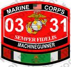 STICKER USMC MOS 0331 MACHINEGUNNER KUWAIT ooo USMC Lisc No 20187