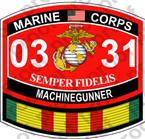 STICKER USMC MOS 0331 MACHINEGUNNER VIETNAM ooo USMC Lisc No 20187