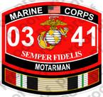 STICKER USMC MOS 0341 MOTARMAN IRAQ ooo USMC Lisc No 20187