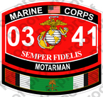 STICKER USMC MOS 0341 MOTARMAN KUWAIT ooo USMC Lisc No 20187