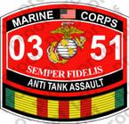 STICKER USMC MOS 0351 ANTI TANK ASSAULT VIETNAM ooo USMC Lisc No 20187