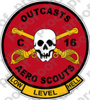 STICKER ARMY 16TH REGIMENT AERO SCOUTS C TROOP