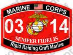 STICKER USMC MOS 0314 Rigid Raiding Craft Marine   ooo   USMC Lisc 20187