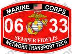 STICKER USMC MOS 0633 NETWORK TRANSPORT TECH   ooo   USMC Lisc 20187