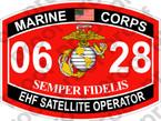 STICKER USMC MOS 0628 EHF SATELLITE OPERATOR   ooo   USMC Lisc 20187