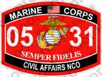 STICKER USMC MOS 0531 CIVIL AFFAIRS NCO   ooo   USMC Lisc 20187