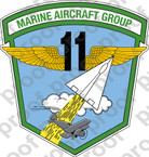 STICKER USMC UNIT   11TH MARINE AIRCRAFT GROUP MAG 11 USMC Lisc 20187