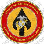 STICKER USMC UNIT MARSOC v2 USMC Lisc 20187