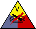 STICKERS US ARMY UNIT 5th Armored Corps
