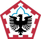 STICKERS US ARMY UNIT 555th Engineer Brigade