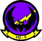 STICKER USN VQ  5 RECON SQUADRON