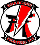 STICKER USN VF 161 FIGHTER SQUADRON CHARGERS