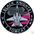 STICKER USN VF 154 FIGHTER SQUADRON TOMCAT