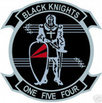 STICKER USN VF 154 FIGHTER SQUADRON BLACK KNIGHTS