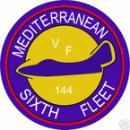 STICKER USN VF 144 FIGHTER SQUADRON
