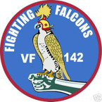 STICKER USN VF 142 FIGHTER SQUADRON FIGHTNG FALCON